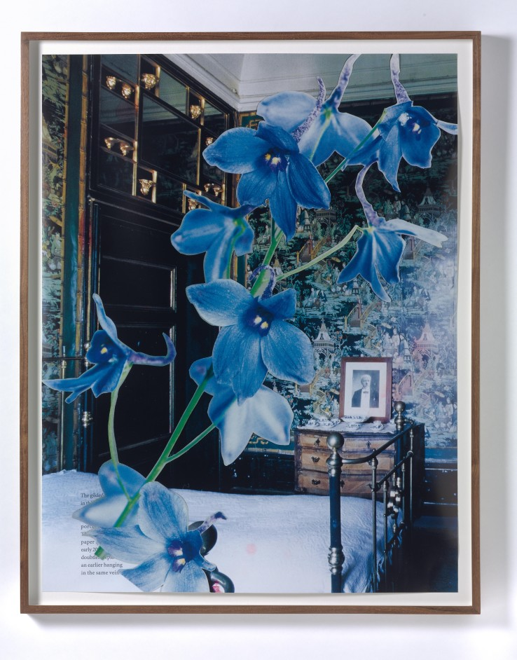 Marc Camille Chaimowicz  Orchid, Chapter One III (World of Interiors), 2008  Hand printed screen print, offset silkscreen and varnish  91 x 72 cm  Edition of 4 and 2 artists proofs  Courtesy of Cabinet Gallery