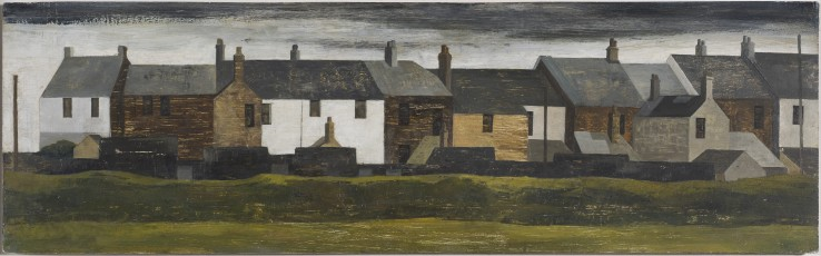 Alexander Mackenzie  St Just, Penwith  c.1952  Oil on board  16 x 34 cm