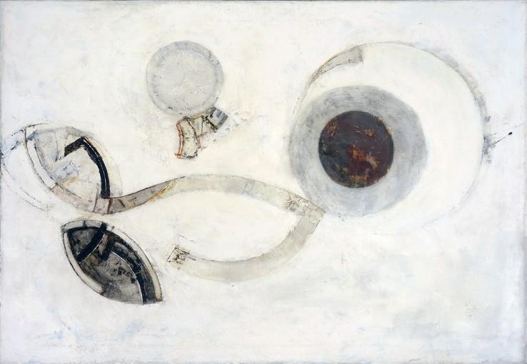 Paul Feiler,  Revolving Forms, 1966,  Oil on canvas, 92 x 132 cm