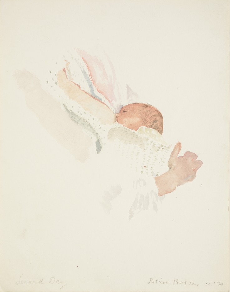 Patrick Procktor RA  Nicholas: Second Day II, 1974  Watercolour on paper  29 x 23 cm