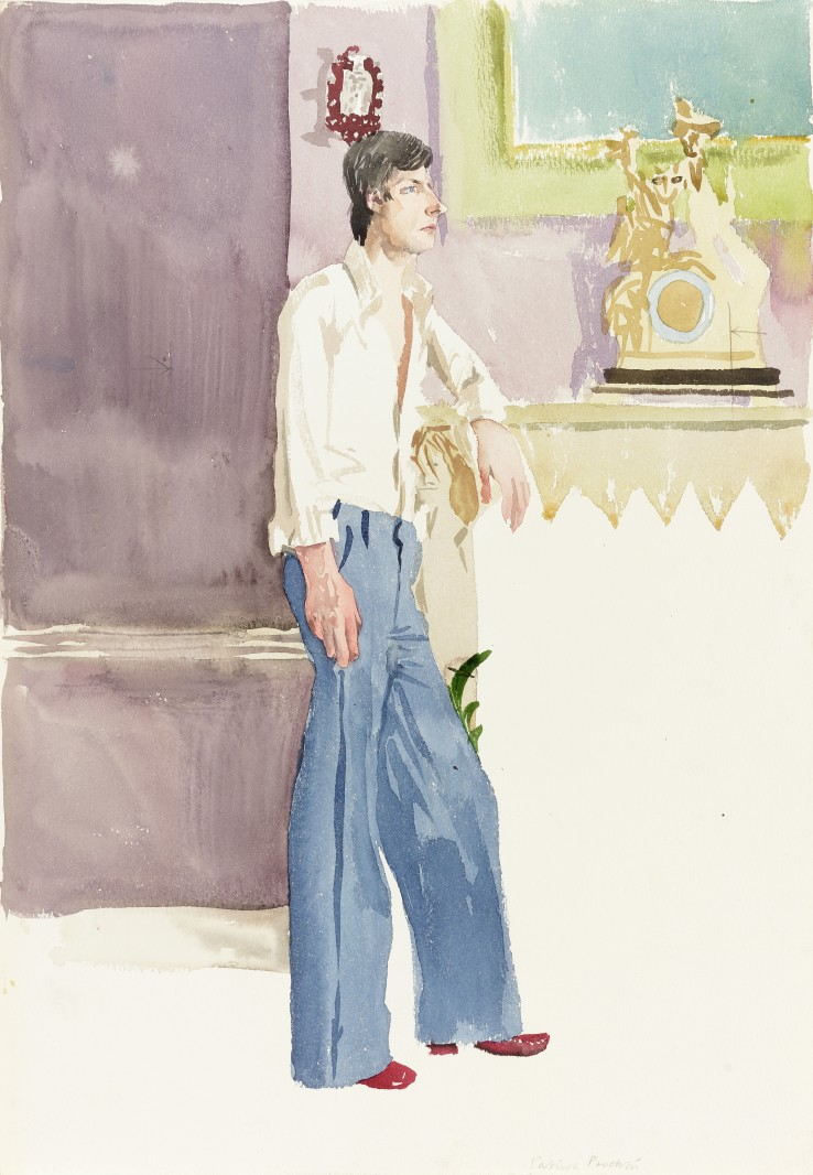Patrick Procktor RA  Simon Blow, 1975  Watercolour on paper  51 x 36 cm  Signed in pencil