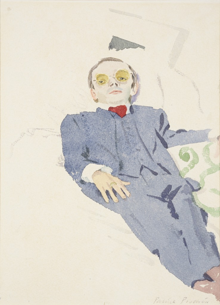Patrick Procktor RA  Mo Reclining, 1968  Watercolour on paper  30 x 22 cm  Signed