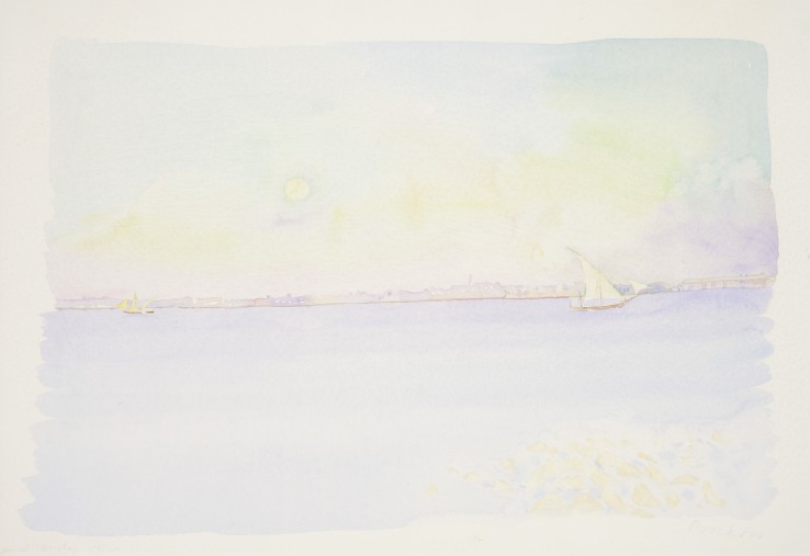 Patrick Procktor RA  Bombay 7.15 am, 1970  Watercolour on paper  35 x 51 cm  Signed and inscribed 'Jan 23 Bombay 7.15 am' in pencil