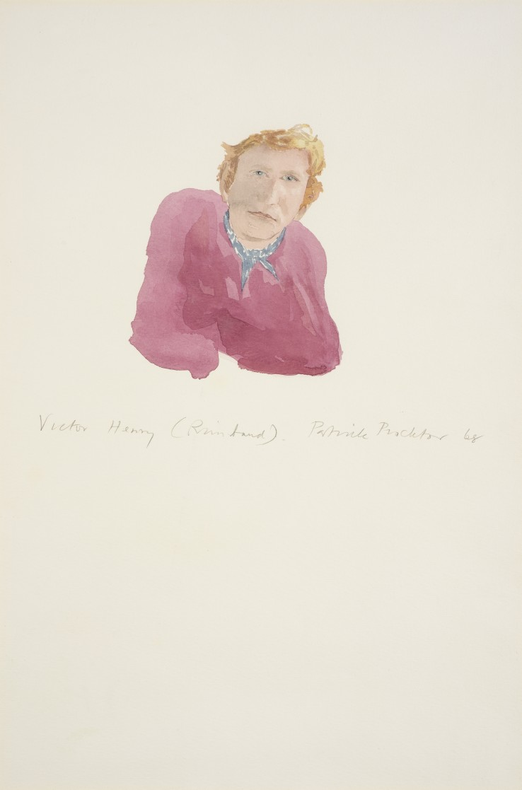 Patrick Procktor RA  Victor Henry (Rimbaud), 1968  Watercolour on paper  46 x 30 cm