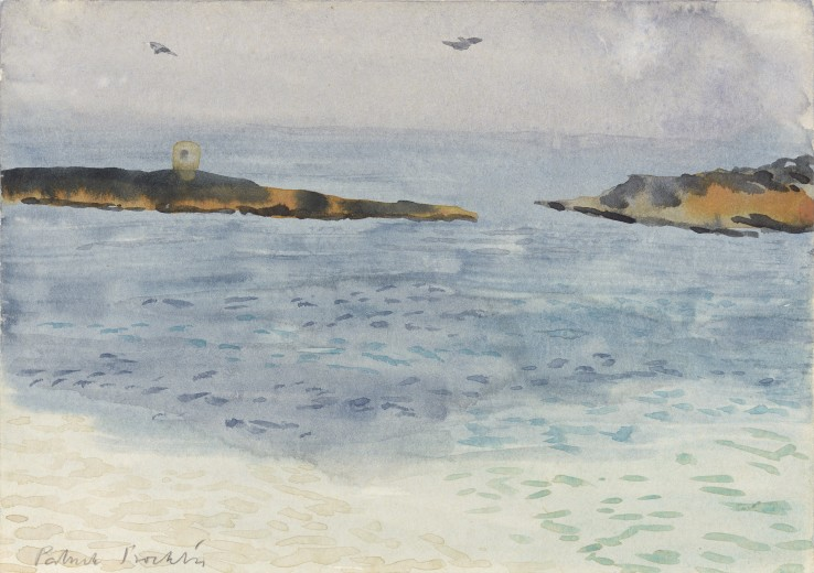 Patrick Procktor RA  Majorca, c.1990  Watercolour on paper  15 x 21 cm  Signed in pencil, titled verso
