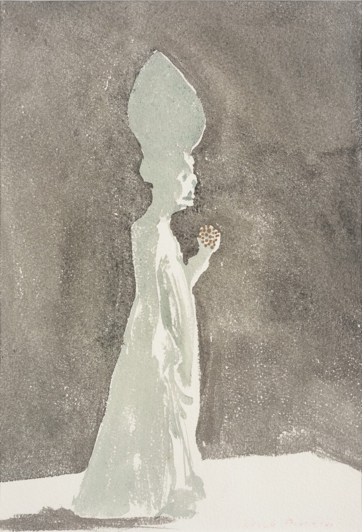 Patrick Procktor RA  Turandot Ghost, 1984  Watercolour on paper  26 x 17 cm  Signed in red pencil