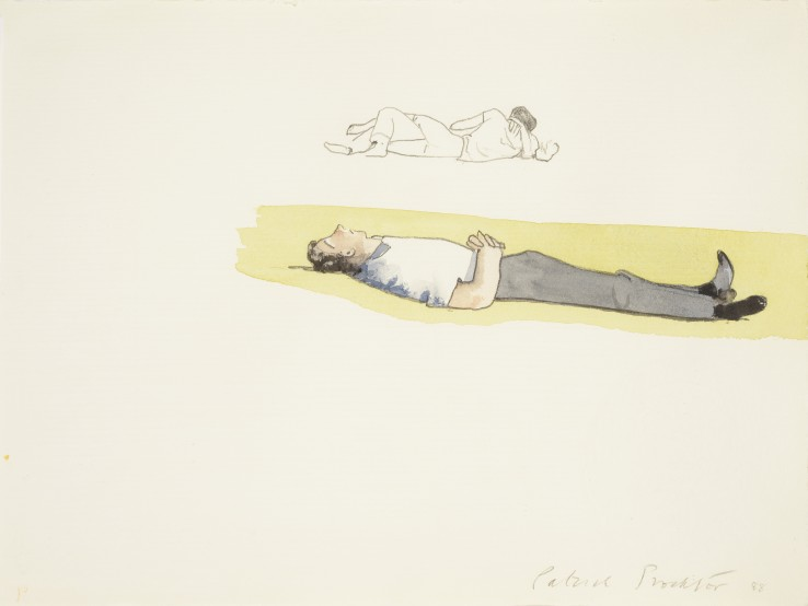 Patrick Procktor RA  Dreaming, 1988  Watercolour and pencil on paper  24 x 33 cm  Signed and dated lower right