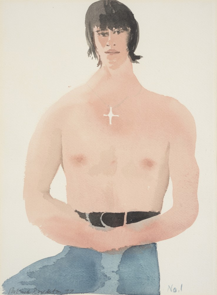 Patrick Procktor RA  Marius, 1977  Watercolour on paper  33 x 22 cm  Signed and dated lower left, inscribed 'No 1' lower right