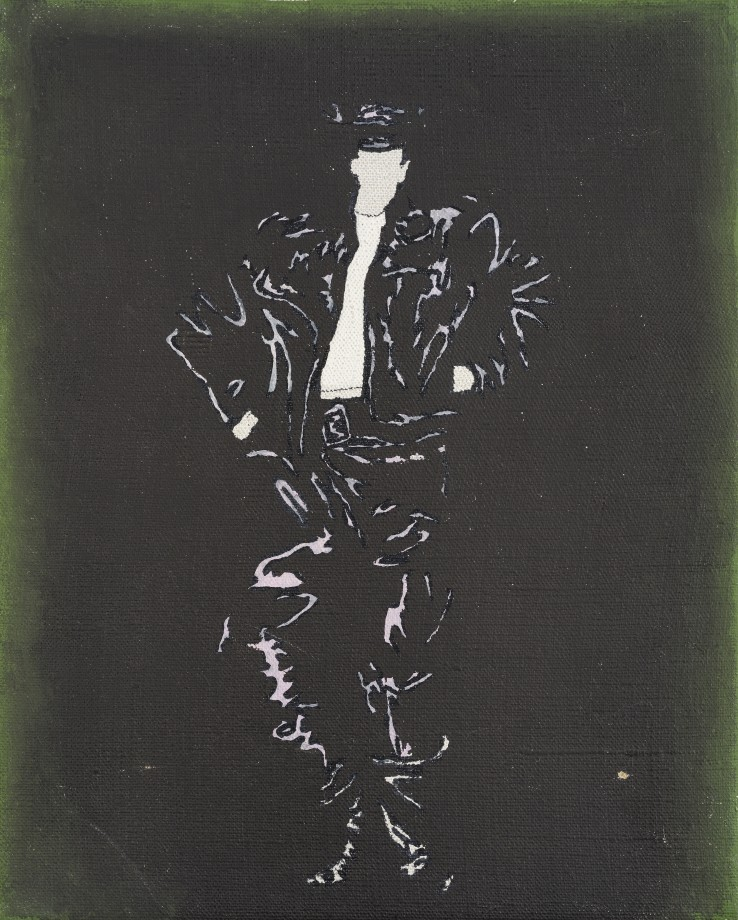 Patrick Procktor RA  Leather Boy, 1966  Acrylic on canvas  26 x 20 cm