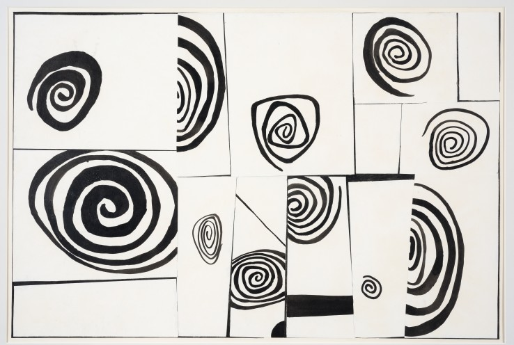 Robert Adams  Untitled, c.1952  Ink and collage on paper  41 x 61 cm