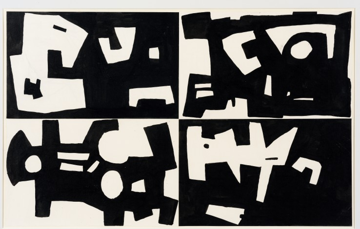 Robert Adams  Untitled, c.1952  Ink and collage on paper  41 x 67 cm
