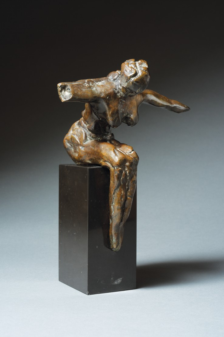 Reg Butler  Seated Figure, 1965  Bronze  18 x 16 x 11 cm  Edition of 8