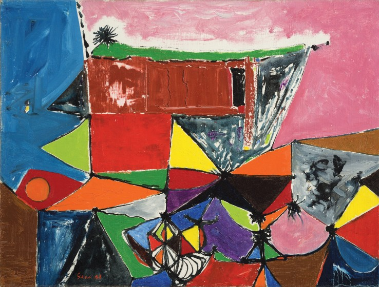 William Gear RA  Paysage, 1948  Oil on canvas  47 x 59 cm  Signed and dated lower left recto; titled verso