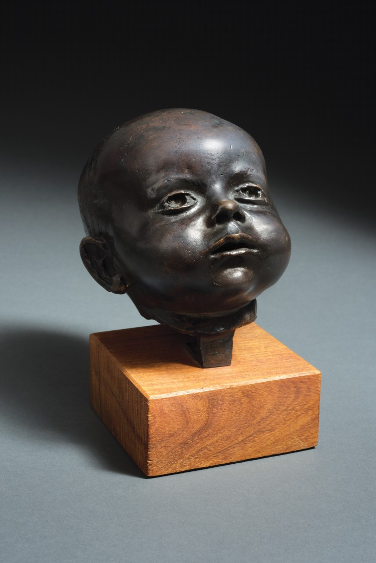 Leon Underwood  Three Months (Baby's Head), 1941  Bronze  18 x 15 x 13 cm  From the edition of 7  Signed