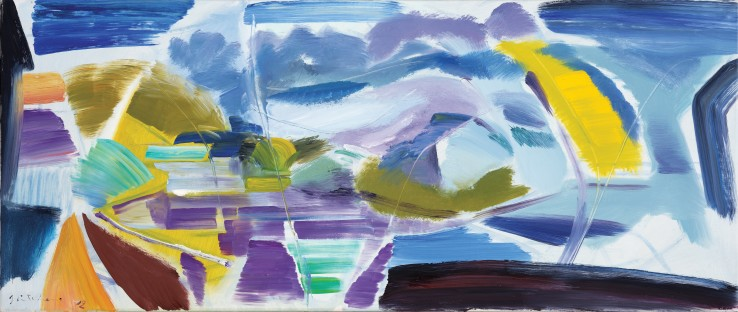 Ivon Hitchens  Sussex Canal No.2, 1972  Oil on canvas  56 x 133 cm  Signed and dated lower left recto
