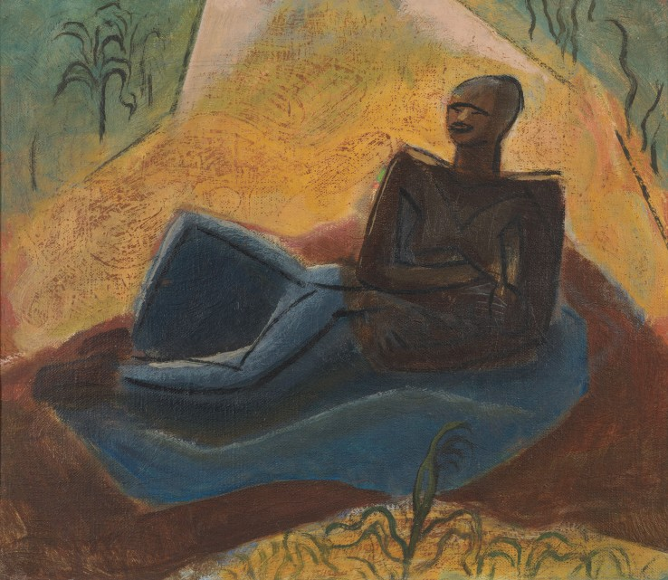 Leon Underwood  Yoruba Mother, 1949  Oil on board  31 x 35.5 cm