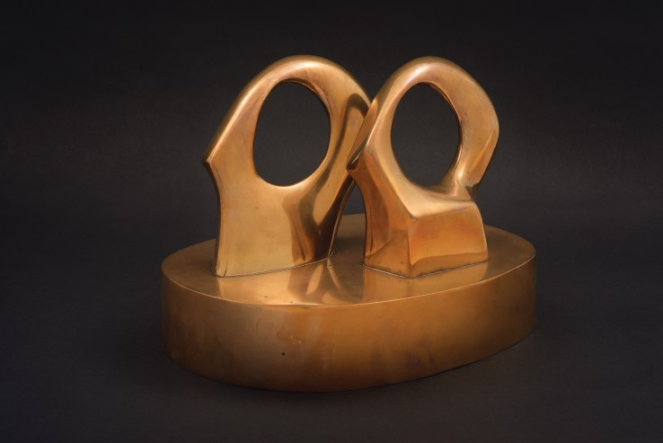 Henry Moore  Maquette for Double Oval, 1966  Bronze  24 cm  From the edition of 9 casts  Signed