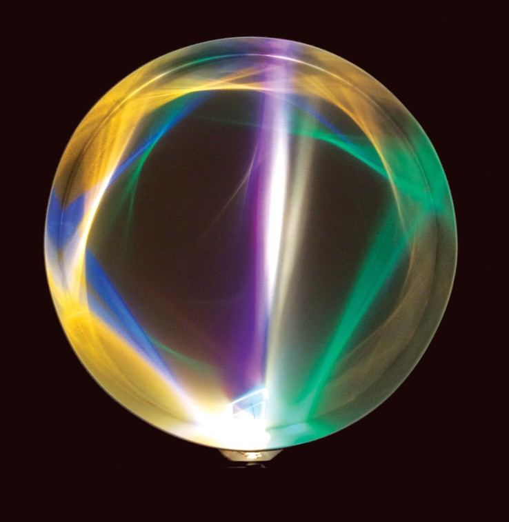Peter Sedgley  Spin, 1981  Kinetic light work  120 x 120 x 17 cm