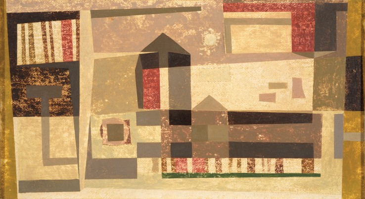 Thurloe Conolly  Painting No. XXXVII, 1953  Oil on board  24 x 45 cm  Signed, titled, and dated verso