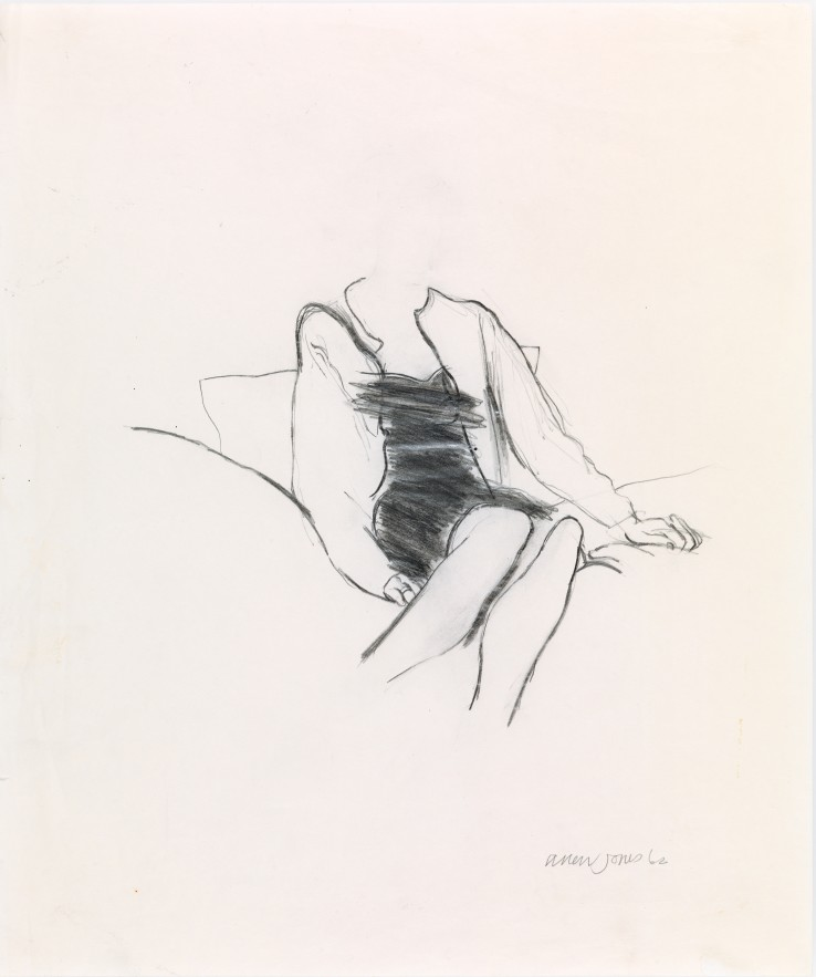 Allen Jones RA  Untitled, 1962  Pencil on paper  43 x 36 cm  Signed and dated lower right