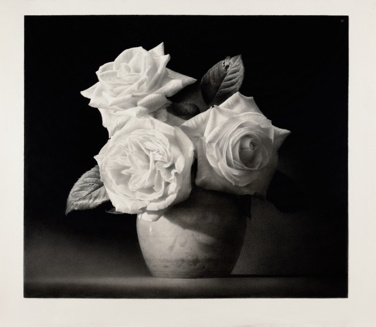 Paul Emsley  Triptych, 2015  Black chalk and pencil on paper  92 x 106 cm