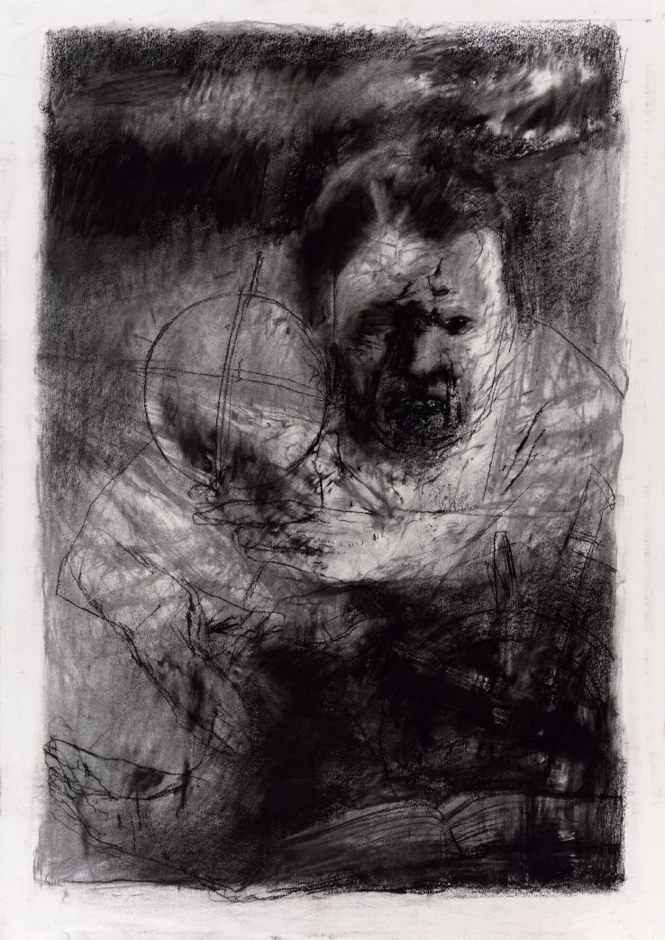 Paul Emsley  Addendum Drawing [No. 4], 2017  Chalk on paper  84 x 59 cm  Signed and dated verso