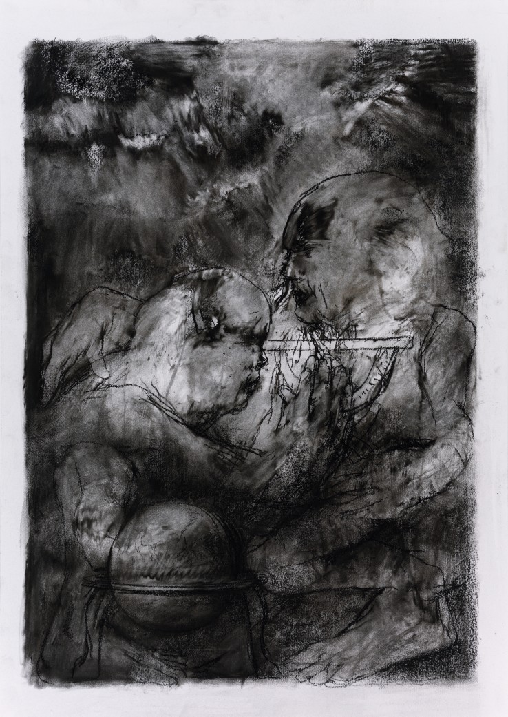 Paul Emsley  Addendum Drawing [No. 11], 2017  Chalk on paper  84 x 59 cm  Signed and dated verso