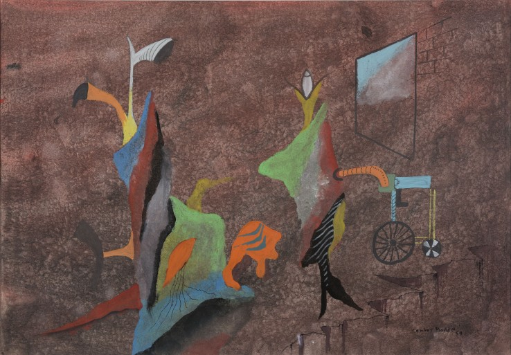 Conroy Maddox  Untitled, 1959  Gouache on paper  29 x 41 cm