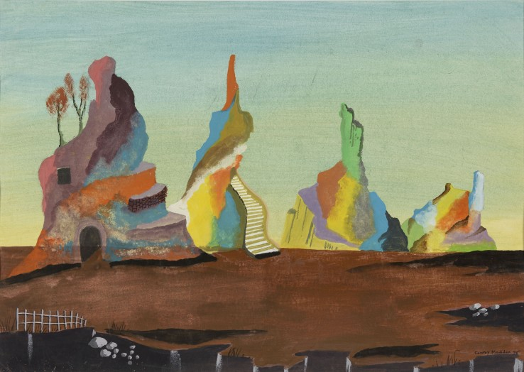 Conroy Maddox  Untitled, 1995  Gouache on paper  31 x 43 cm  Signed and dated lower right