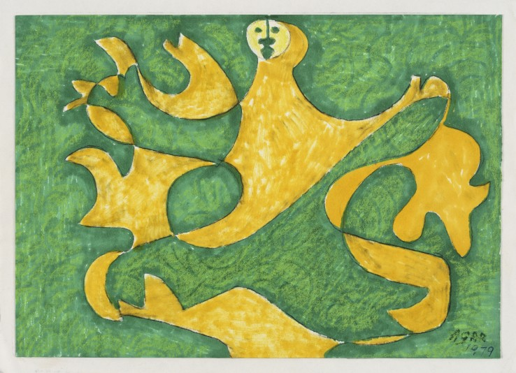 Eileen Agar RA  Dance of the Autumn Leaves, 1979  Felt-tip on paper  16 x 23 cm