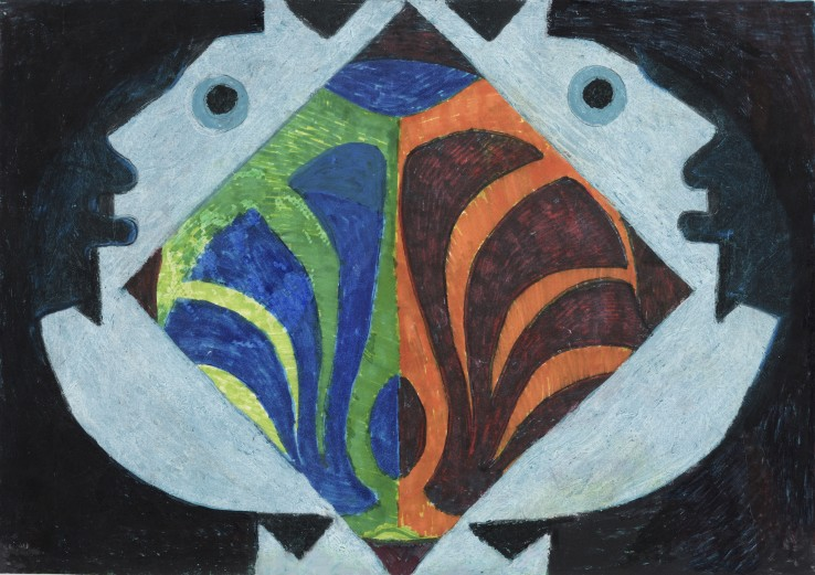 Eileen Agar RA  Untitled  Pastel and felt-tip on paper  21 x 30 cm
