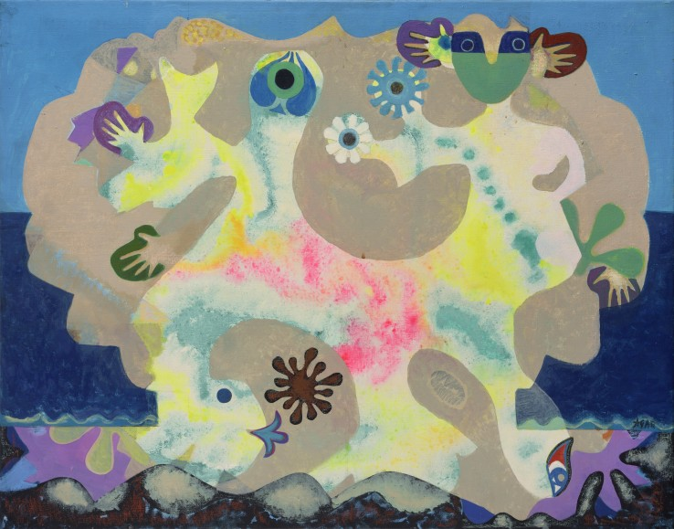 Eileen Agar RA  Sea-Dance for a Child, 1978  Acrylic on canvas  71 x 91 cm  Signed, dated, and titled verso