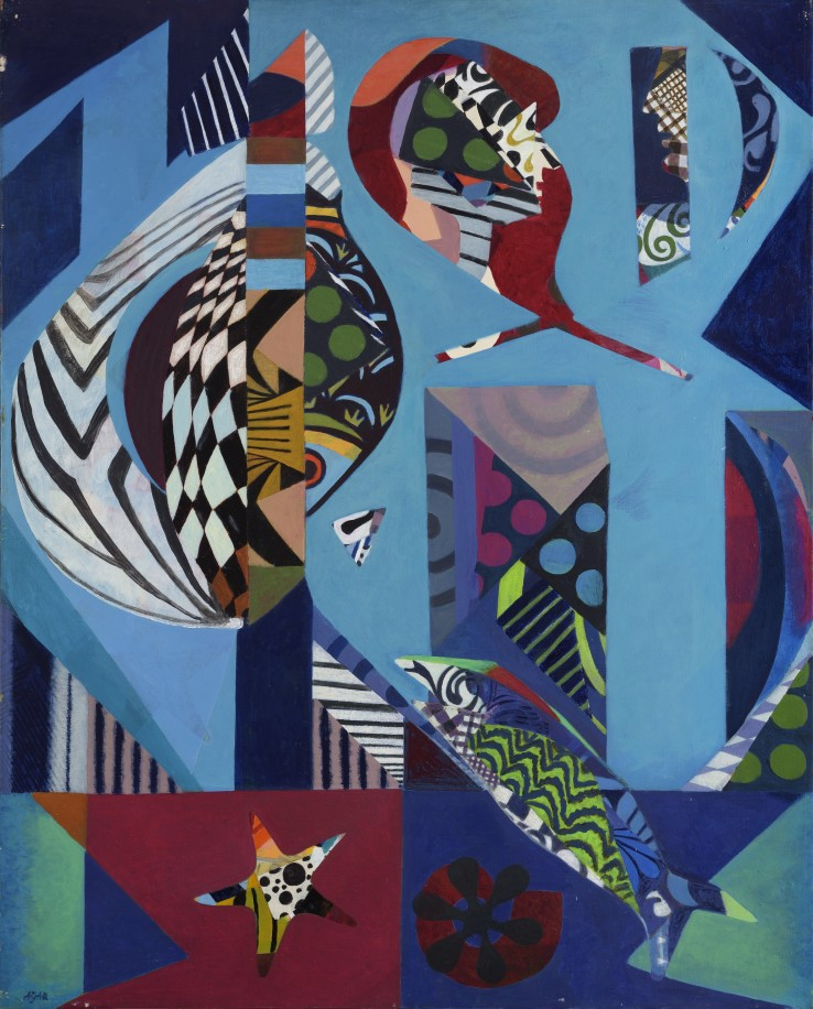 Eileen Agar RA  The Catch, 1978-79  Acrylic on canvas  127 x 102 cm  Signed, titled, and dated verso