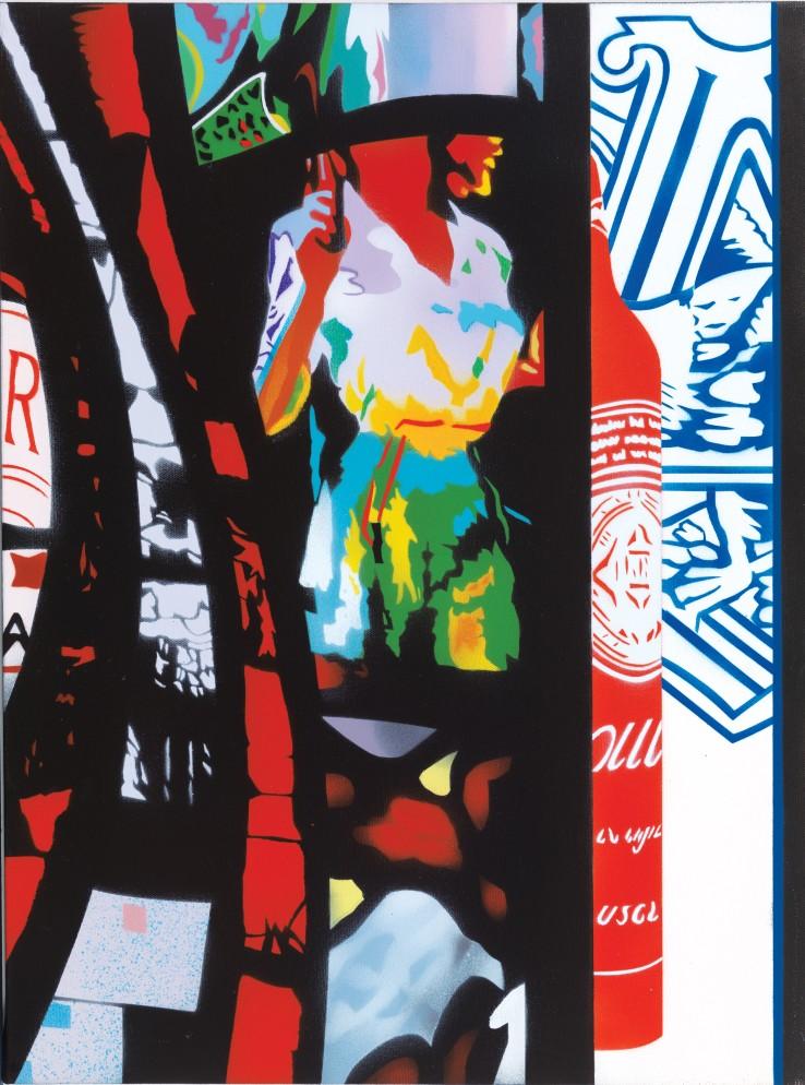Brendan Neiland  Rosanaline, 2015  Acrylic on canvas  61 x 46 cm