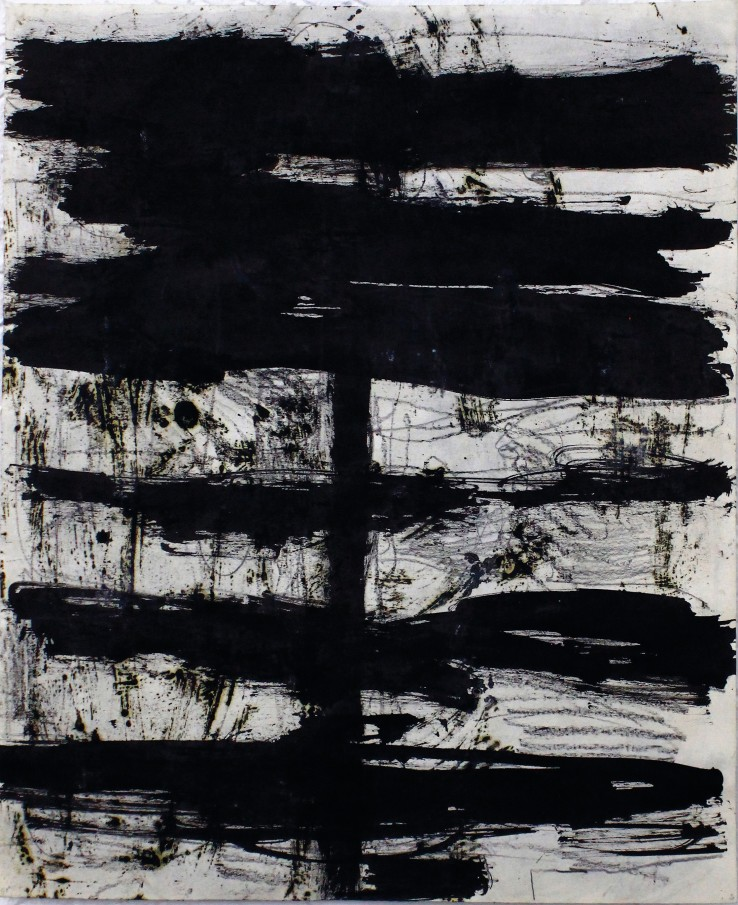 Linda Karshan  Untitled, 1993  Ink, graphite, and turpentine on paper  44 x 36.5 cm