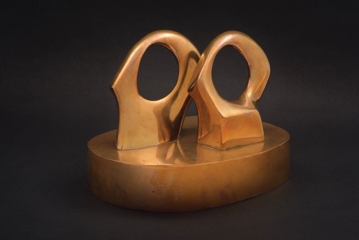 Henry Moore OM, CH  Maquette for Double Oval, 1966  Bronze  20 x 27 x 21 cm  From the edition of 9 casts  Signed