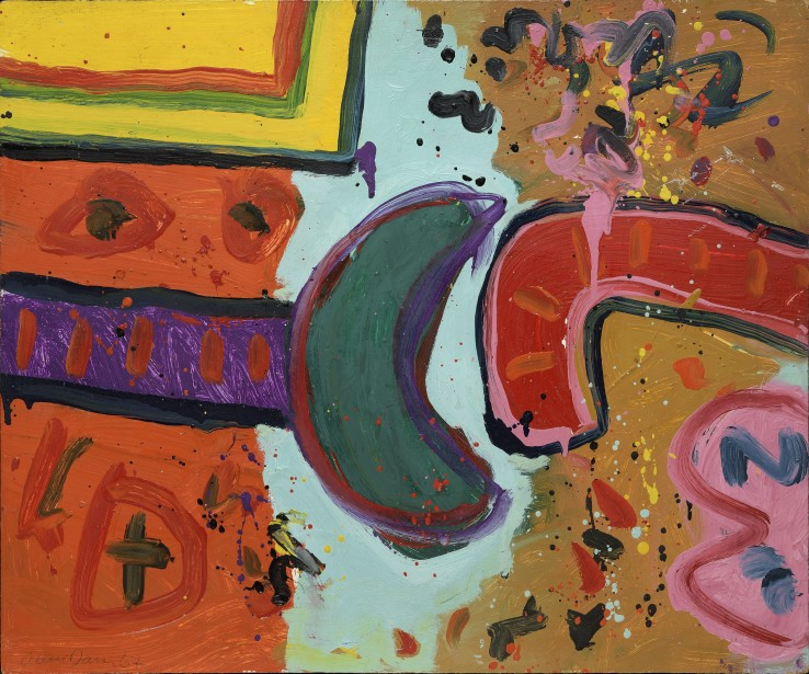 Alan Davie RA  Smile of the Chameleon No. 4, 1967  Oil on board  50 x 60 cm  Signed and dated lower left