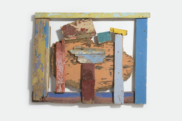 Margaret Mellis  Cloud Cuckoo Land, 1991  Driftwood construction  97 x 78 cm  Signed, dated and titled verso
