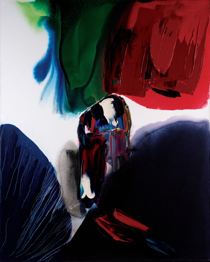 Paul Jenkins  Phenomena Night Watchman, 1994  Acrylic on canvas  161.9 x 130.2 cm  Signed, dated and titled verso