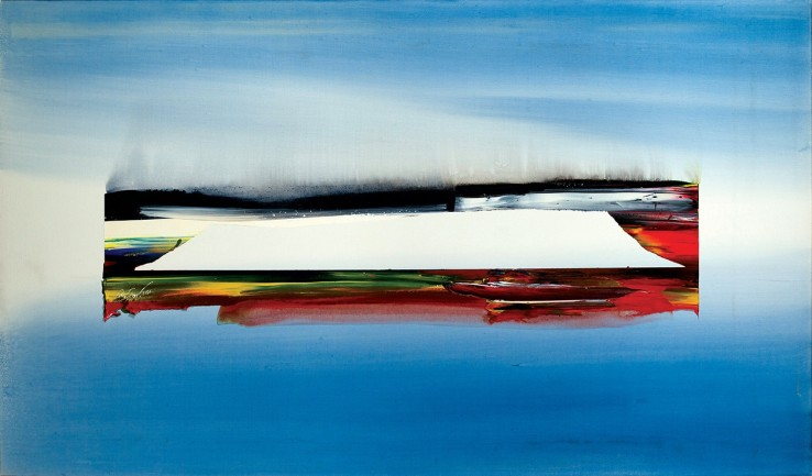 Paul Jenkins  Phenomena Holland Dyke, 1984  Acrylic on canvas  97.2 x 165.7 cm  Signed, dated and titled verso