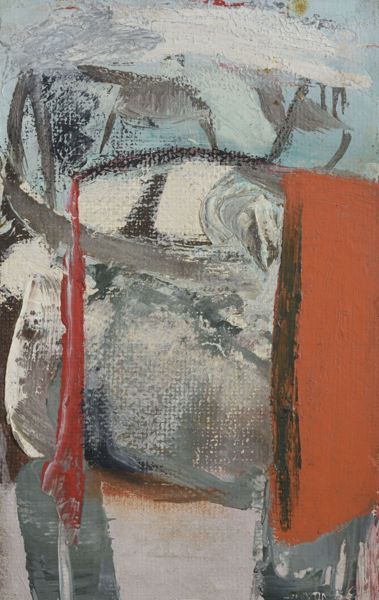 Peter Lanyon  Untitled, 1956  Oil on board  22 x 14 cm  Signed and dated lower right