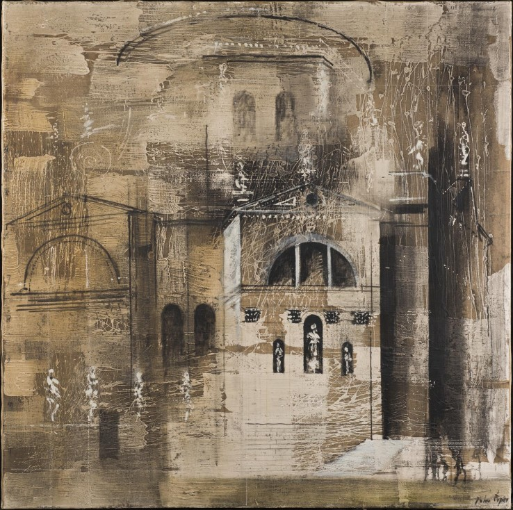 John Piper  The Salute, Venice, 1959  Oil on canvas  122 x 122 cm  Signed lower right