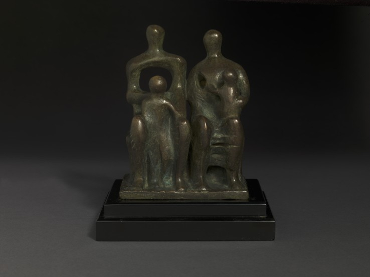 Henry Moore OM, CH  Family Group, 1946  Bronze  15 cm (height)  Cast from a 1945 terracotta maquette