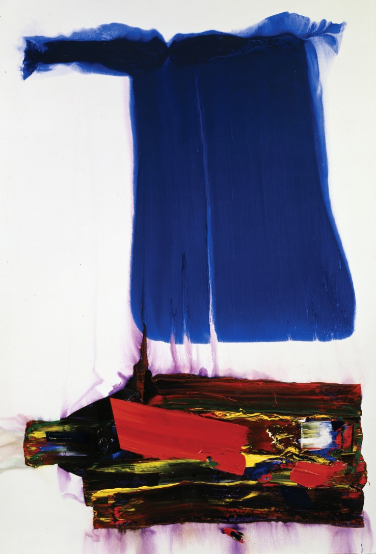 Paul Jenkins  Phenomena When Odin Fell, 1992  Acrylic on canvas  302 x 201.9 cm  Signed. Signed, dated and titled on reverse