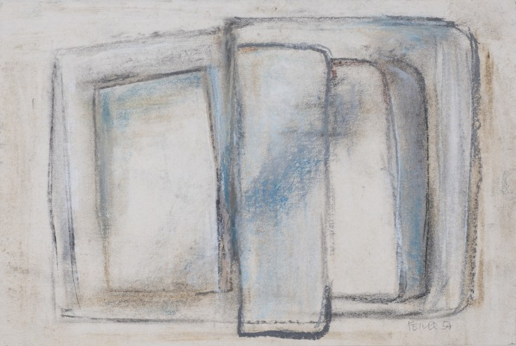 Paul Feiler  Drawing, 1954  Chalk and conté on paper  18 x 27 cm