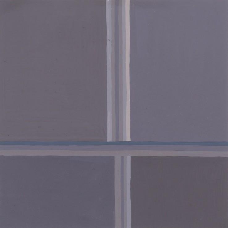 Paul Feiler  Adytum G I, 1976  Gouache on paper  14 x 14 cm