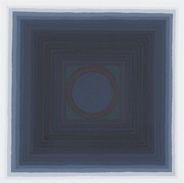 Paul Feiler  Sekos G LXI, 1991  Gouache on paper  14 x 14 cm (image)