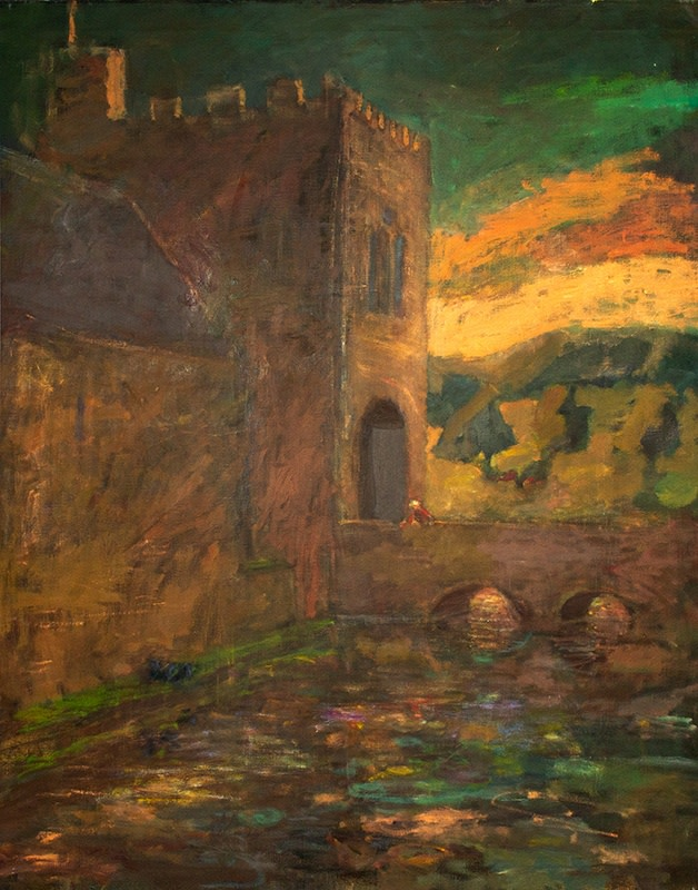 Susannah Fiennes  Gatehouse, 2011  Oil on canvas  112 x 86 cm