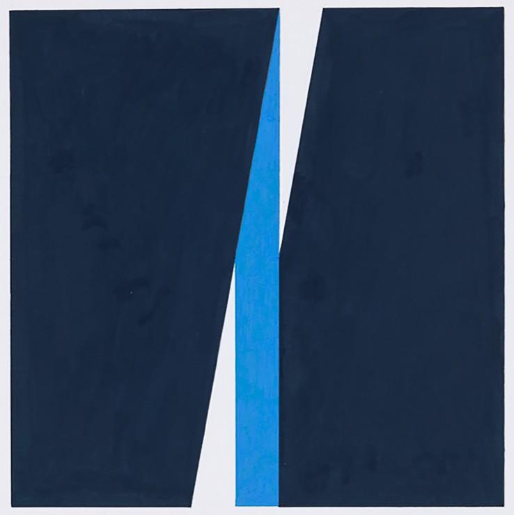 John Carter  Through a Square: Study, 2009  Acrylic gouache on paper  31 x 20.8 cm
