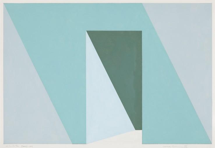 John Carter  Corner Opening, Study III, 2005/9  Acrylic on paper  27 x 39 cm